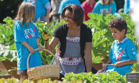 First Lady Gardening