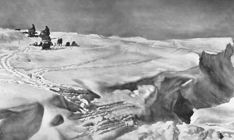 Roald Amundsen and his team