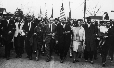 Civil rights march from Selma, Alabama