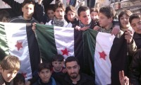 Protesters in Syria
