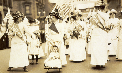 Suffrage parade in New York City in 1912