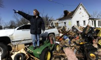 Tornado aftermath in Harveyville, Kansas