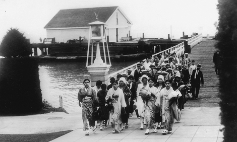 Asian Immigrants Arriving at Angel Island
