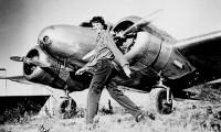 Amelia Earhart and her Lockheed Electra