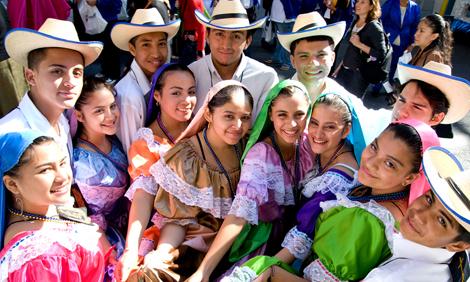 Hispanic Heritage Month Parade Group Of Hispanic People