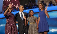 The First Family at the 2012 DNC
