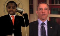 Kid President with President Obama