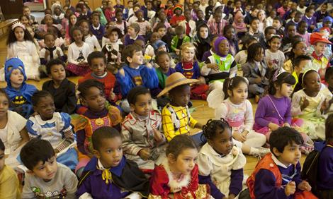 Children celebrating World Book Day