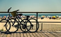 Bicycles on a Jersey Shore Boardwalk