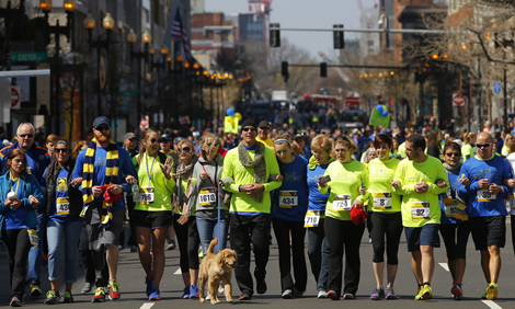 Tribute run on Boylston Street
