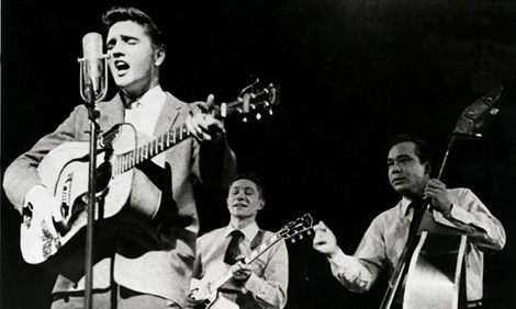 Elvis Presley with Scotty Moore and Bill Black