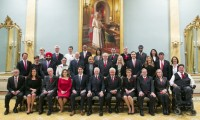 Canadian Prime Minister Justin Trudeau with his cabinet ministers