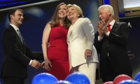 Hillary Clinton and family at the Democratic National Convention