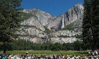 President Obama speaks at Yosemite National Park