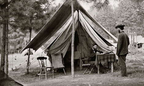 Harrison's Landing, Virginia. Headquarters of Signal Corps