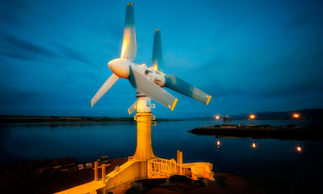 Tidal turbine in Invergordon, Scotland