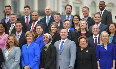 Newly elected members of the House of Representatives