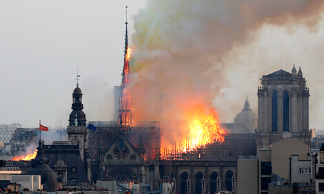 Notre-Dame Cathedral in flames