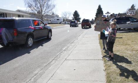 Teacher parade in Great Falls, Montana.